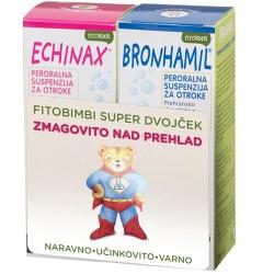 Fitobimbi Super Dvojček (Echinax + Bronhamil peroralna suspenzija), 2 x 200 ml
