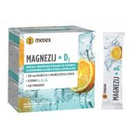 Medex Magnezij + D3 instant napitek, 20 vrečk