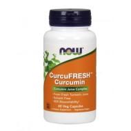 NOW CurcuFresh Kurkumin 500 mg, 60 vegetarijanskih kapsul