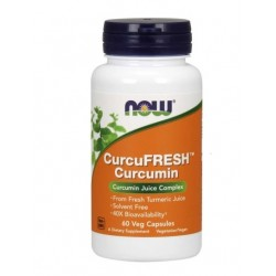 NOW CurcuFresh Kurkumin 500 mg, 60 vegetarijanskih kapsul