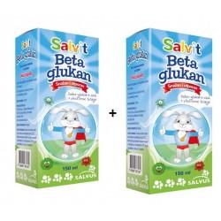 Salvit Beta Glukan, tekočina z okusom jagode 1+1 GRATIS