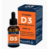 Vitamin D3 2.000 I.E kapljice, 30 ml