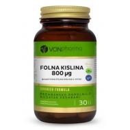 Vonpharma Folna kislina 800 mcg, 30 kapsul