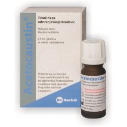 Acetocaustin, tekočina za odstranjevanje bradavicam