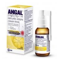 Angal, oralno pršilo z okusom limone