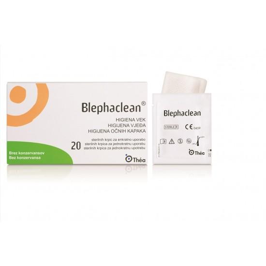 Blephaclen sterilna krpica za dnevno higieno vek in občutljive kože Pripomočki in zaščita