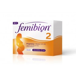 Femibion 2 400 mcg z metafolinom, vitaminom D, DHA in jodom, tablete