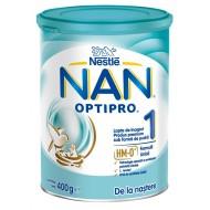 Nan Optipro 1, začetno mleko za dojenčke od rojstva dalje - 400g