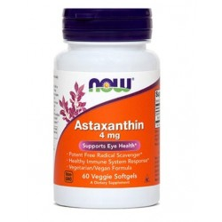 NOW Astaksantin 4 mg, kapsule