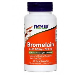 NOW Bromelain 500 mg, kapsule