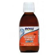 NOW Omega-3 ribje olje, okus limone