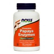 NOW Papaja, žvečljive tablete