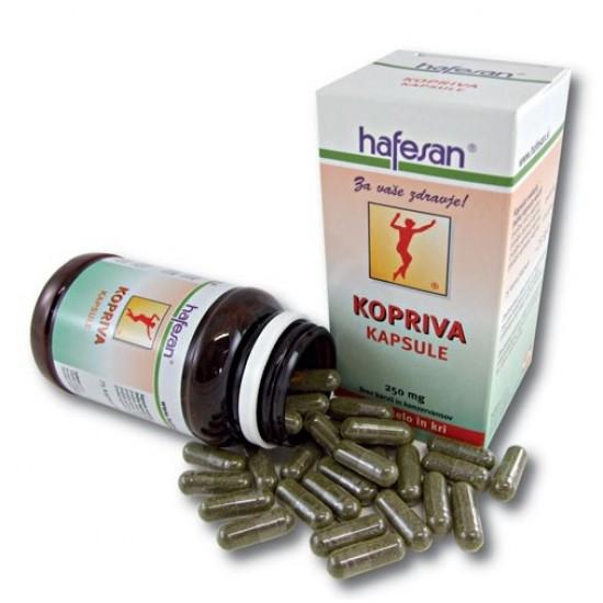 Hafesan Kopriva, kapsule Prehrana in dopolnila