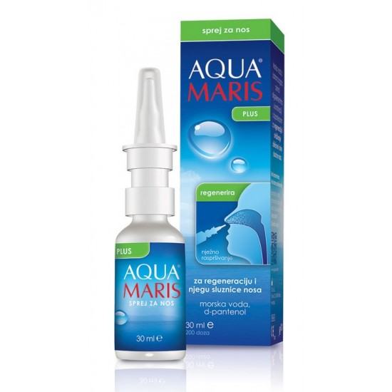 AQUA MARIS Plus, pršilo za nos Pripomočki in zaščita