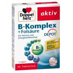 Doppelherz Aktiv B-kompleks + folna kislina, tablete