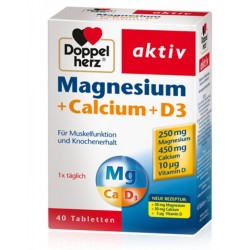 Doppelherz Aktiv Magnezij + Kalcij + D3, tablete