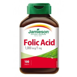 Jamieson Folna kislina 1000 mcg, tablete