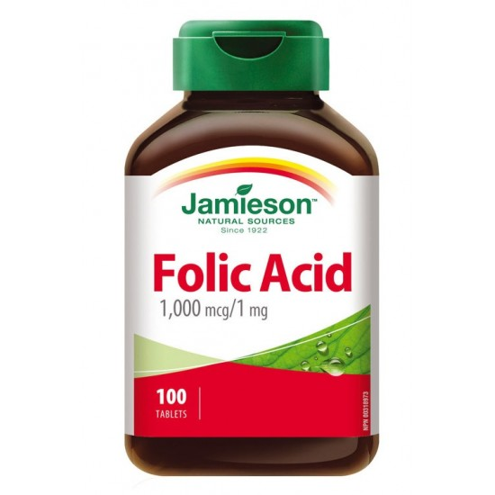 Jamieson Folna kislina 1000 mcg, tablete Prehrana in dopolnila