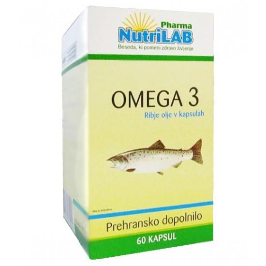 Nutrilab Omega 3, kapsule Prehrana in dopolnila