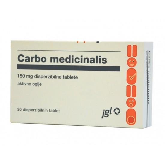 Carbo medicinalis, disperzibilne tablete Zdravila brez recepta