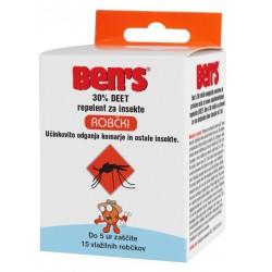 Ben's 30 Deet repelent za insekte, robčki