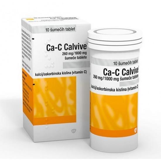 Ca-C Calvive, šumeče tablete Zdravila brez recepta