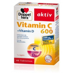 Doppelherz Aktiv Vitamin C 600 + vitamin D, tablete