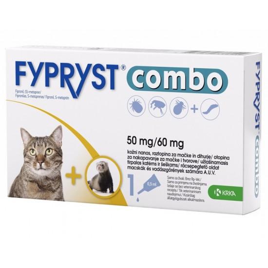 Fypryst Combo, kožni nanos za mačke in dihurje - 10 pipet Za živali
