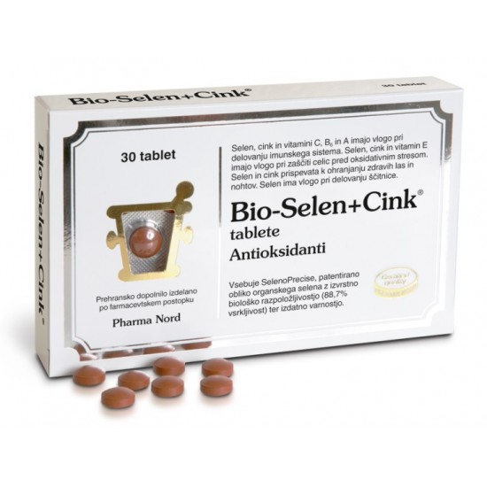 Pharma Nord Bio-Selen+Cink, 30 tablet Prehrana in dopolnila