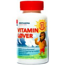 Biopharma Vitamini za otroke, žele bonbon v obliki levčka