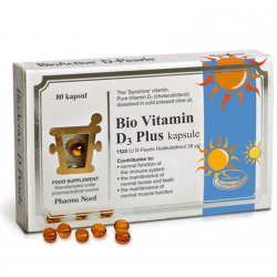 Pharma Nord Bio-Vitamin D3 Plus, 80 kapsul