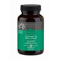 Terranova Vitamin D3 za otroke 400iu, kapsule