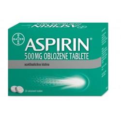 Aspirin 500 mg obložene tablete, 20 tbl