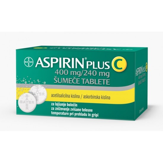 Aspirin plus C, 20 šumečih tablet Zdravila brez recepta