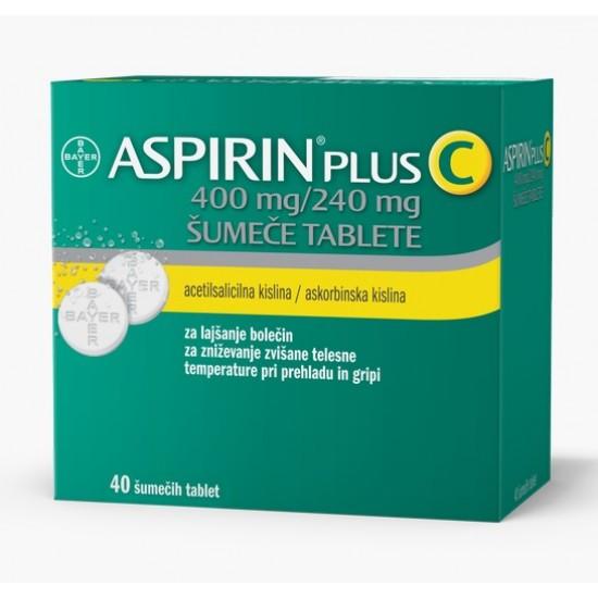 Aspirin plus C, 40 šumečih tablet Zdravila brez recepta