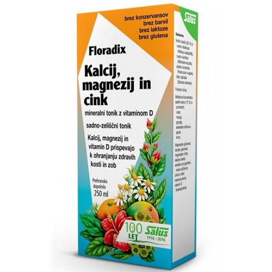 Floradix Kalcij, Magnezij in Cink, tonik Prehrana in dopolnila