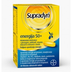 Supradyn Energija 50+, filmsko obložene tablete