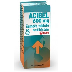 Acibel 600 mg, 10 šumečih tablet