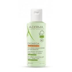 A-Derma Exomega Control, emolientni čistilni gel 2v1 za atopijsko kožo - 200 ml