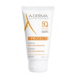 A-derma Protect, krema za zaščito pred soncem brez vonja ZF50+