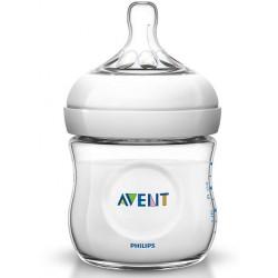 Avent Natural, steklenička s silikonskim cucljem - 125 ml