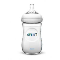 Avent Natural, steklenička s silikonskim cucljem - 260 ml