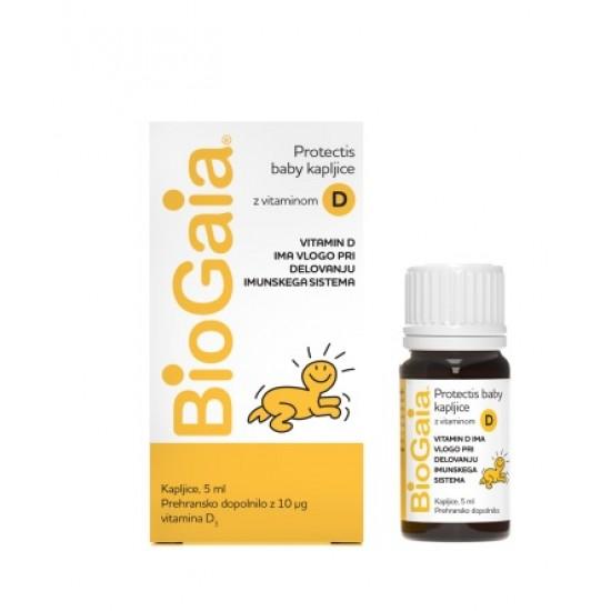 BioGaia Protectis Baby D3, probiotične kapljice za otroke in dojenčke Prehrana in dopolnila