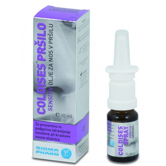 Coldises Sensitiv olje za nos v pršilu Pripomočki in zaščita