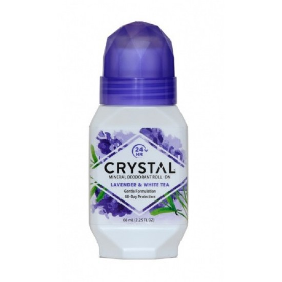 Crystal Essence Deo, sivka in beli čaj, roll-on Kozmetika