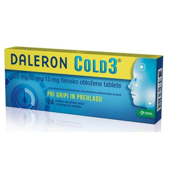 Daleron Cold 3, filmsko obložene tablete Zdravila brez recepta