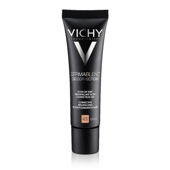 Vichy Dermablend 3D Correction, korektivni puder za mastno kožo nagnjeno k aknam - 45 Kozmetika
