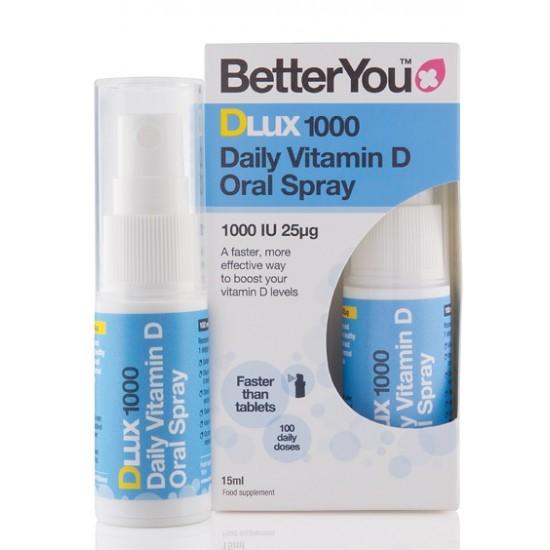 Betteryou DLux 1000 vitamin D3, pršilo Prehrana in dopolnila