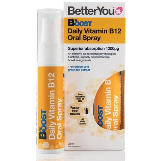 Betteryou Boost vitamin B12, pršilo Prehrana in dopolnila
