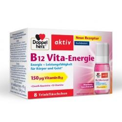 Doppelherz Aktiv B12 Vita-Energie 150 mcg - okus maline, 8 plastenk